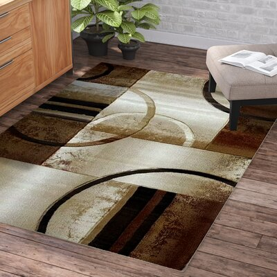 Collier Beige Area Rug Rug Size: 52 x 75