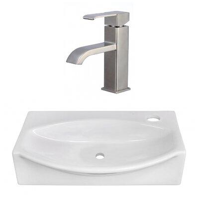 Ceramic Specialty Vessel Bathroom Sink with Faucet