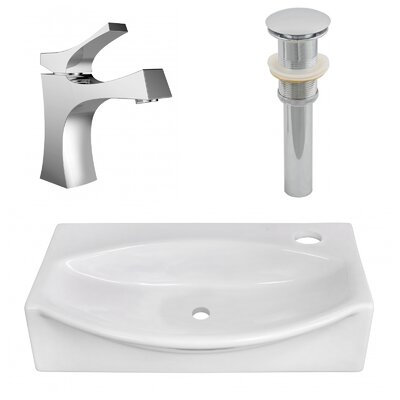 Ceramic 12 Wall Mount Bathroom Sink with Faucet