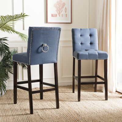 Rumi Bar Stool Upholstery: Navy