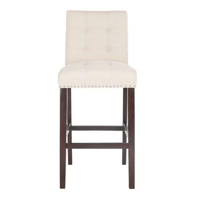 Rumi Bar Stool Upholstery: Beige