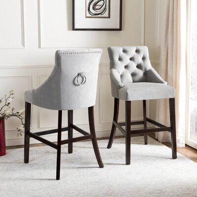 Drishya Tufted Wing Back 45 Bar Stool Upholstery: Gray