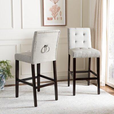 Rumi Bar Stool Upholstery: Light Gray