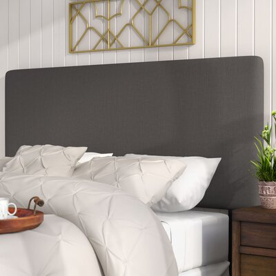 Florus Slipcover Upholstered Panel Headboard Size: Queen, Upholstery: Charcoal