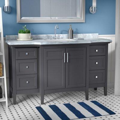 Lebanon 60 Single Bathroom Vanity Set Base Finish: Maple Grey