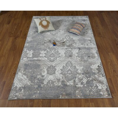 Brinkley Gray Area Rug Rug Size: Rectangle 53 x 76