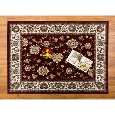 Caledonian Red/Cream Area Rug Rug Size: Rectangle 710 x 109