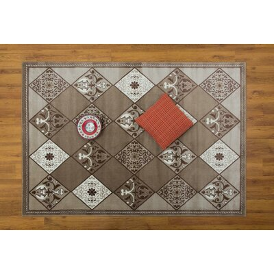Jarnigan Geometric Beige Area Rug Rug Size: Rectangle 53 x 76