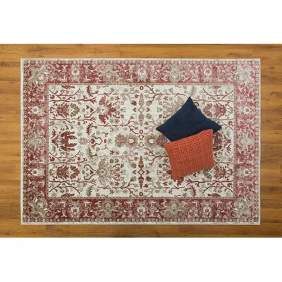 Waldhaus Cream/Pink Area Rug Rug Size: Rectangle 710 x 109