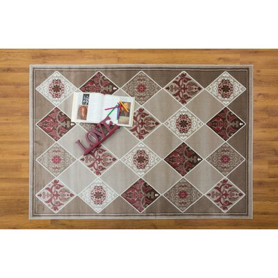 Jarnigan Pink/Beige Area Rug Rug Size: Rectangle 311 x 511
