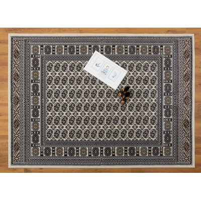 Caledonian Cream/Beige Area Rug Rug Size: Rectangle 710 x 109