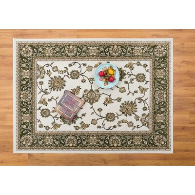Caledonian Cream/Green Area Rug Rug Size: Rectangle 710 x 109