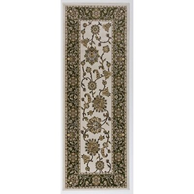 Caledonian Cream/Green Area Rug Rug Size: Runner 27 x 76