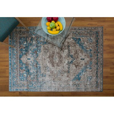 Selimi Blue Area Rug Rug Size: Rectangle 53 x 76