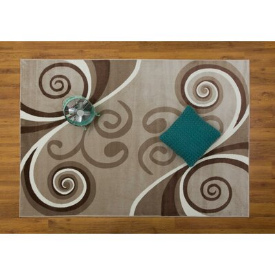 Jarnigan Beige Area Rug Rug Size: Rectangle 53 x 76