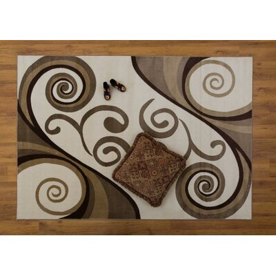 Jarnigan Cream/Beige Area Rug Rug Size: Rectangle 53 x 76