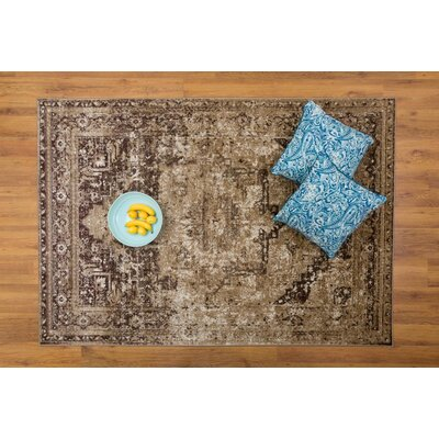 Selimi Beige/Brown Area Rug Rug Size: Rectangle 53 x 76