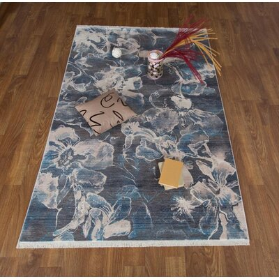 Salena Floral Gray Area Rug Rug Size: Rectangle 8 x 102