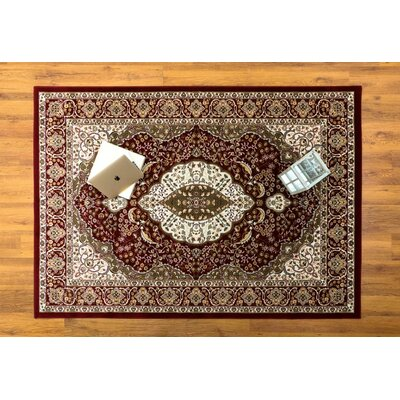 Caledonian Oriental Red/Cream Area Rug Rug Size: Rectangle 53 x 76