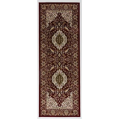 Caledonian Oriental Red/Cream Area Rug Rug Size: Runner 27 x 76