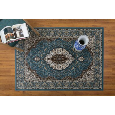 Caledonian Blue/Beige Area Rug Rug Size: Rectangle 710 x 109