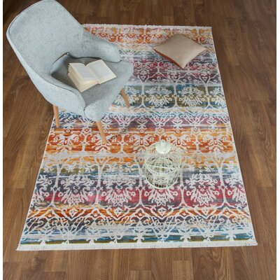 Claretta Floral Yellow/Pink Area Rug Rug Size: Rectangle 8 x 102