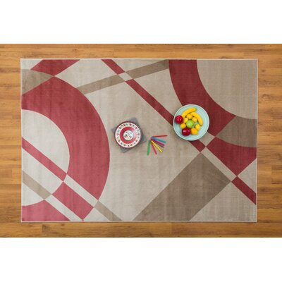 Cypress Abstract Pink/Beige Area Rug Rug Size: Rectangle 53 x 76