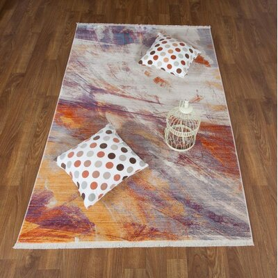 Crumrine Print Beige Area Rug Rug Size: Rectangle 8 x 102