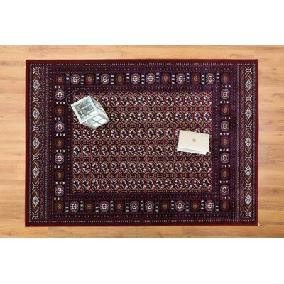 Caledonian Red Area Rug Rug Size: Rectangle 53 x 76