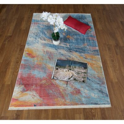 Lizeth Navy/Pink Area Rug Rug Size: Rectangle 5 x 78