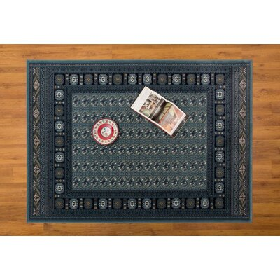Caledonian Blue Area Rug Rug Size: Rectangle 53 x 76
