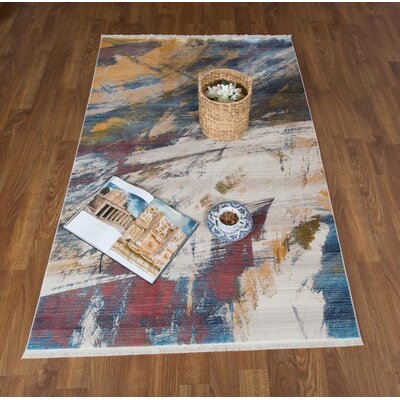 Lizeth Print Red/Beige Area Rug Rug Size: Rectangle 5 x 78