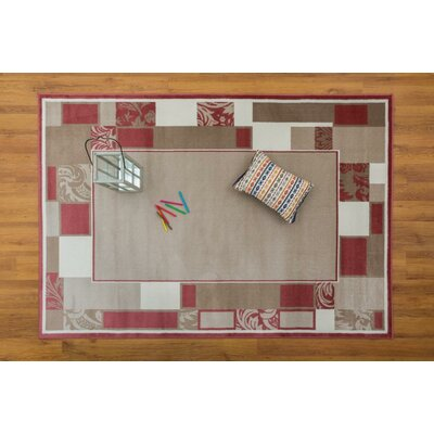 Jarnigan Pink/Beige Area Rug Rug Size: Rectangle 53 x 76