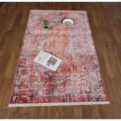 Salena Red Area Rug Rug Size: Rectangle 8 x 102