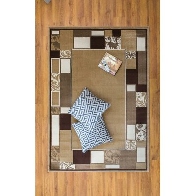 Jarnigan Brown/Beige Area Rug Rug Size: Rectangle 53 x 76