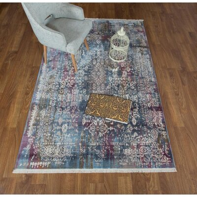 Salena Blue Area Rug Rug Size: Rectangle 5 x 78