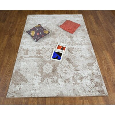 Brinkley Beige Area Rug Rug Size: Rectangle 53 x 76