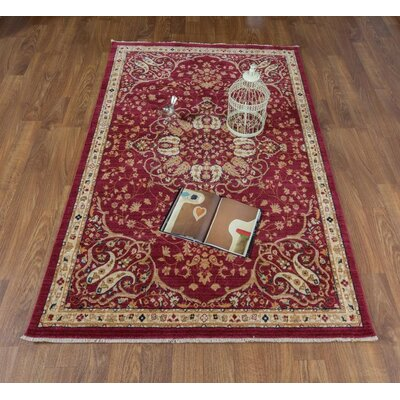 Seng Red/Ivory Area Rug Rug Size: Rectangle 8 x 10