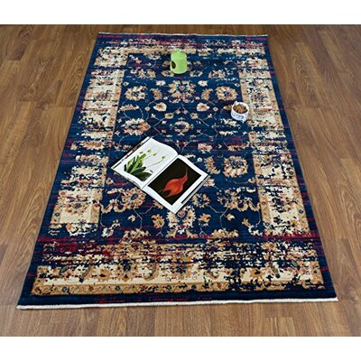 Dundonald Navy/Ivory Area Rug Rug Size: Rectangle 5 x 8