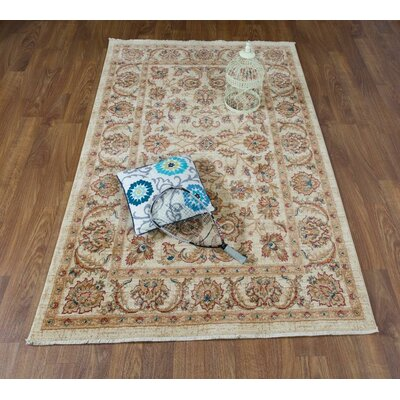 Dunanney Oriental Brown/Ivory Area Rug Rug Size: Rectangle 41 x 6