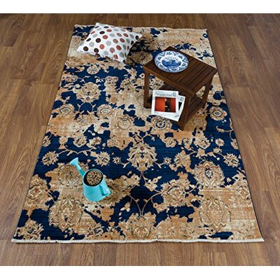 Serina Navy/Ivory Area Rug Rug Size: Rectangle 41 x 6