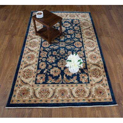 Dunanney Navy/Ivory Area Rug Rug Size: Rectangle 5 x 8