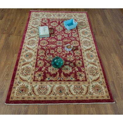 Dunanney Oriental Red/Ivory Area Rug Rug Size: Rectangle 8 x 10
