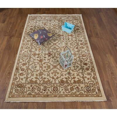 Dundermot Ivory Area Rug Rug Size: Rectangle 41 x 6