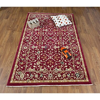 Dundermot Red/Ivory Area Rug Rug Size: Rectangle 5 x 8