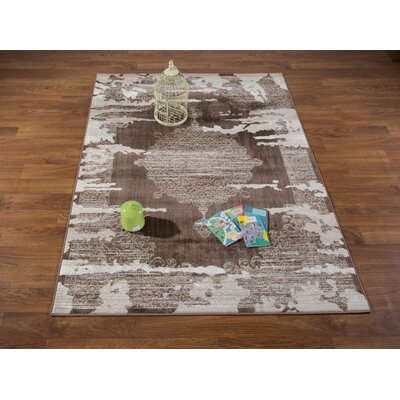 Senaida Brown/Beige Area Rug Rug Size: Rectangle 53 x 7
