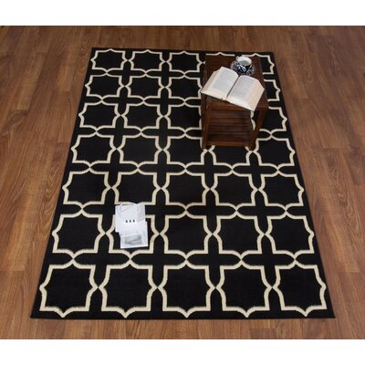 Haubstadt Geometric Black/Cream Area Rug Rug Size: Rectangle 8 x 10