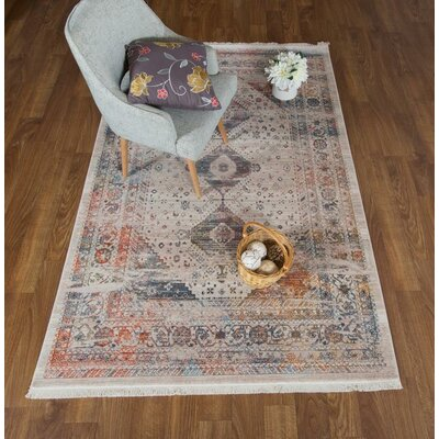 Salena Oriental Beige Area Rug Rug Size: Rectangle 8 x 102