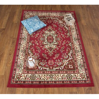 Dunlin Oriental Maroon/Beige Area Rug Rug Size: Rectangle 8 x 10