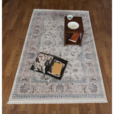 Brompton Oriental Light Beige Area Rug Rug Size: Rectangle 8 x 10 2